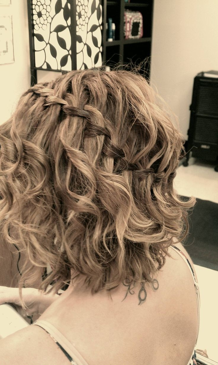 Braiding Short Hair For Waves Waterfall Braid Short Hair