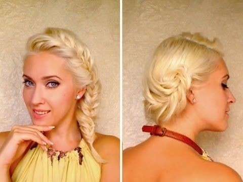 French Fishtail Braided Hairstyle for Medium Hair
