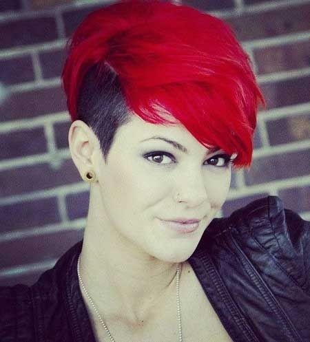 Hair Color Ideas for Short Hair: Shaved Haircuts