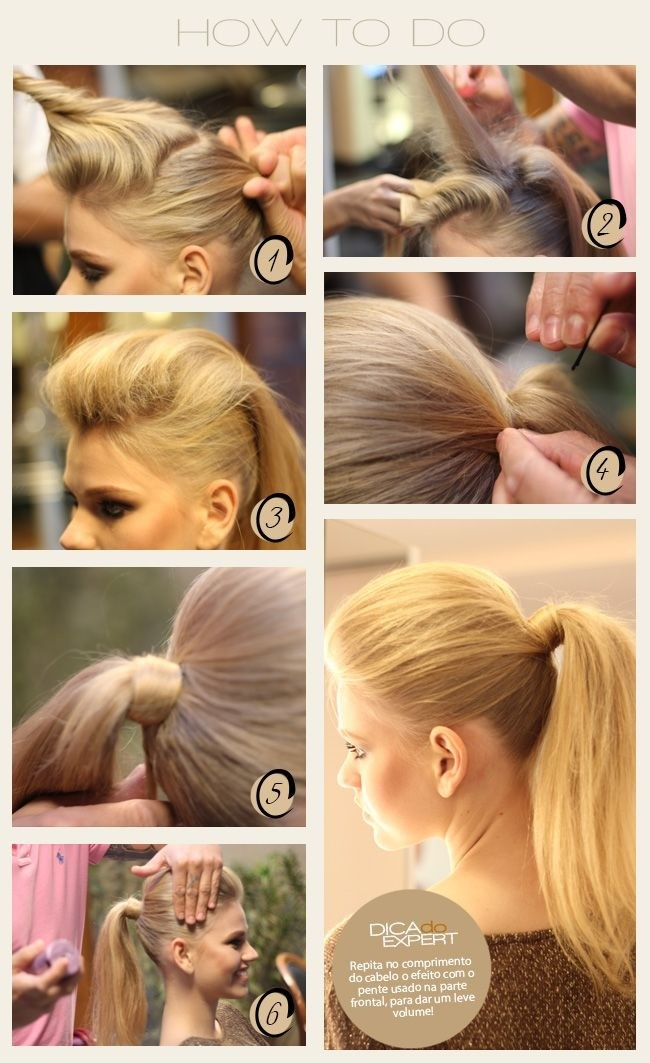 How To Do: Easy Ponytail Hairstyles for Straight Long Hair / Via