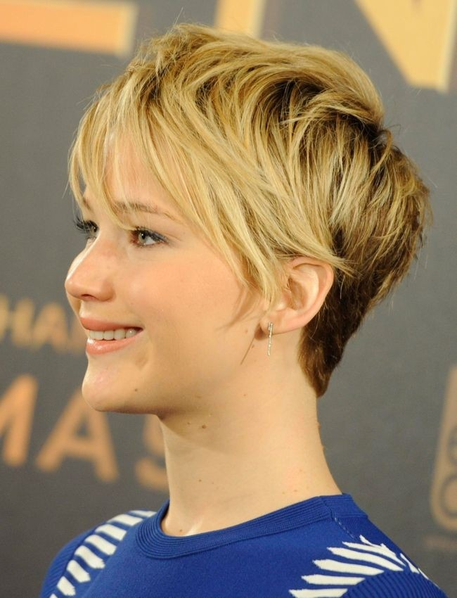 Jennifer Lawrence Short Haircut: Messy Pixie Hairstyles