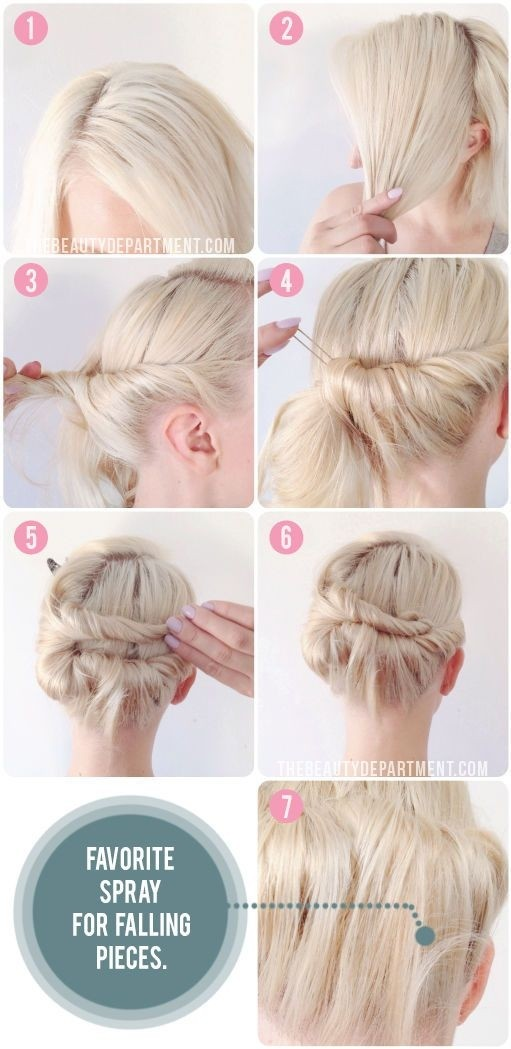 Knot Tie Updo for Short Hair