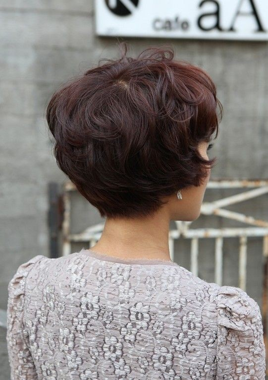 Layered Short Hairstyle Back View Short Hairstyle 2013