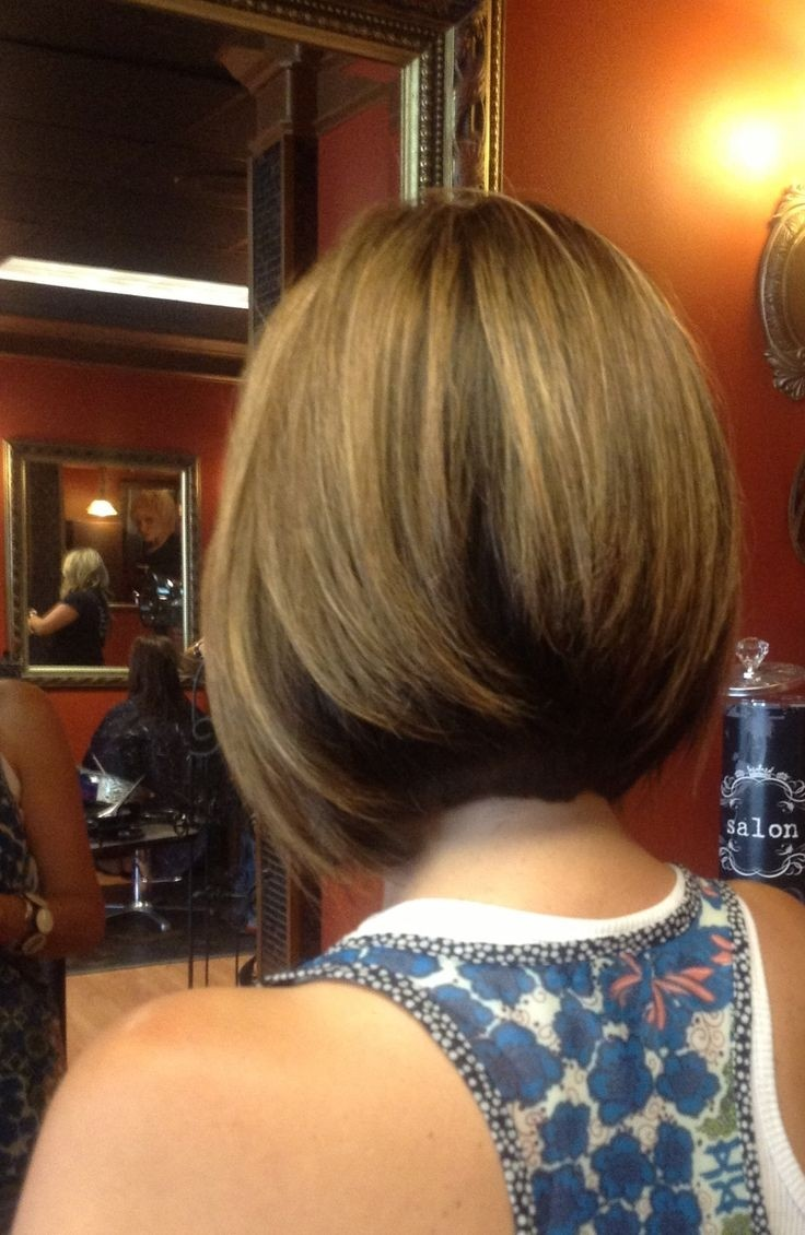 Bob haircuts back view - Medium Length Inverted Bob With Long Layers Great For Medium To Thick Textured Straight Hair
