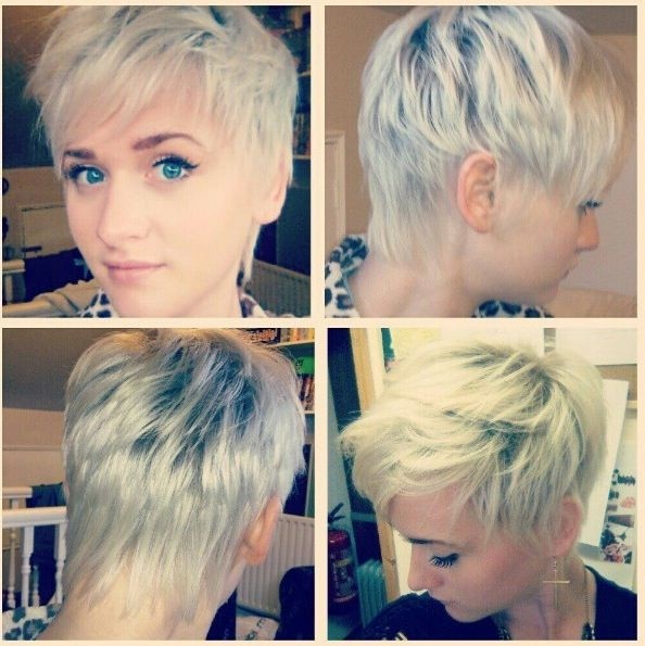 Messy Hairstyles for Short Hair: Side and Back View