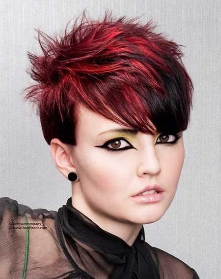 Nice and Attractive Pixie Cut whit Spiky Top