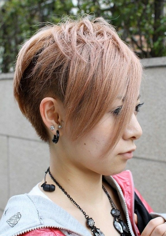 Trendy hair style asian