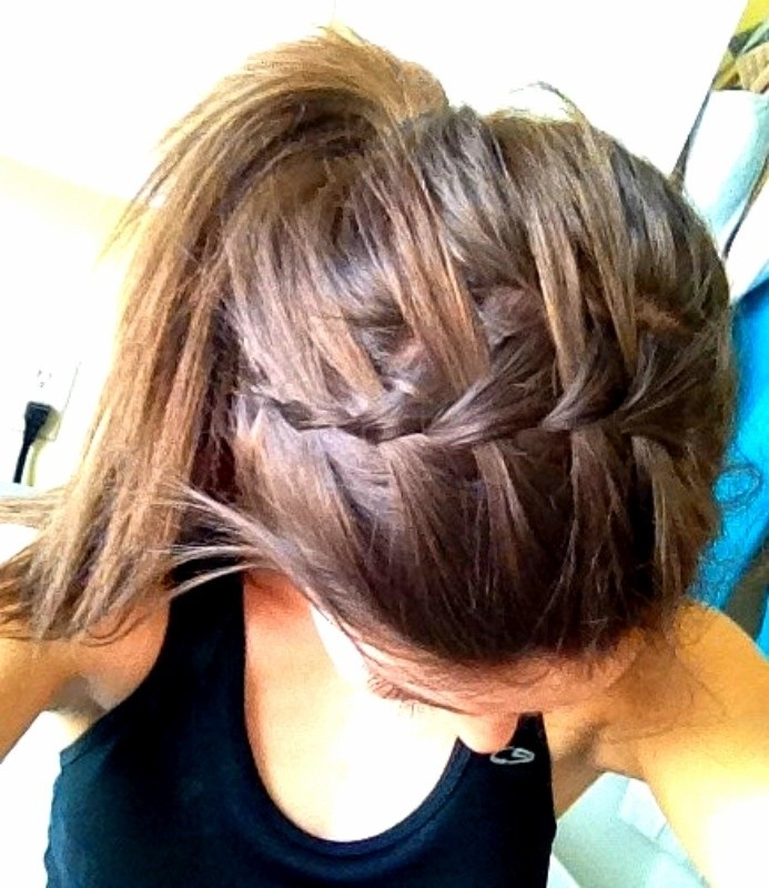 Ponytail Hairstyles with Waterfall Braid Bangs
