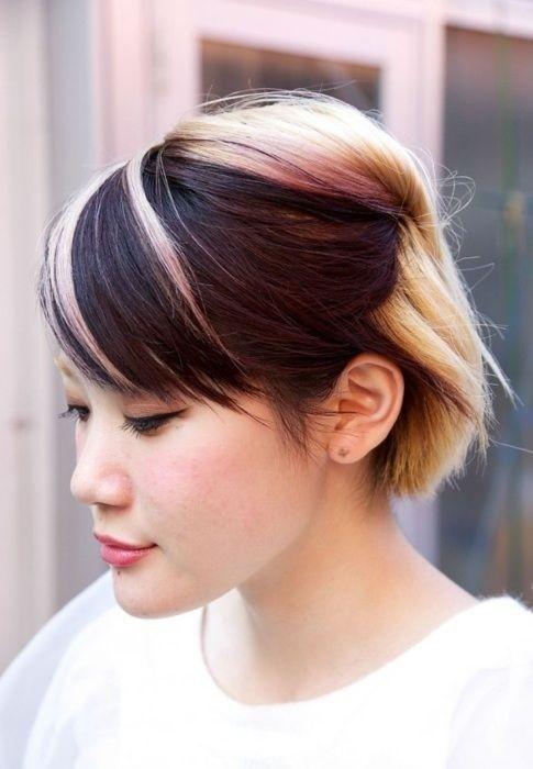 Short Asian Hair with Highlights