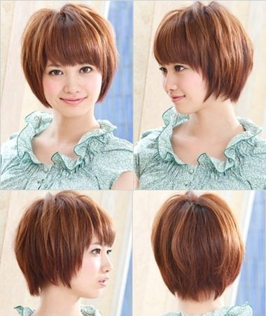 Short Asian Hairstyle for Girls: Round Face