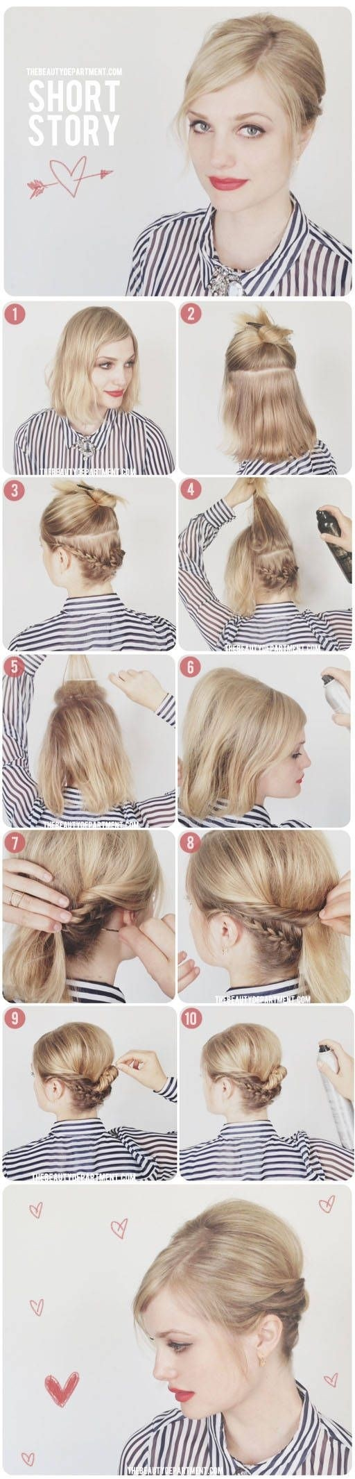 8 Cute Updo Hairstyles For Short Hair Popular Haircuts
