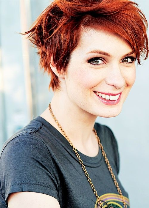 Short Red Haircut for Summer