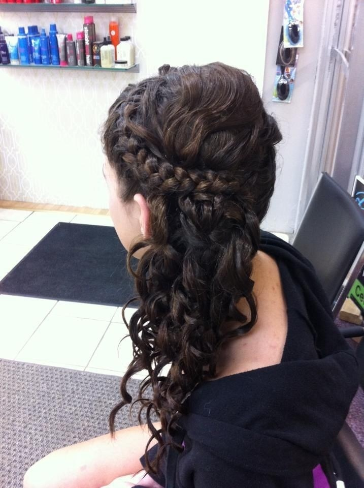 Side Braid Updo: Prom Hairstyles Idesa for Long Hair