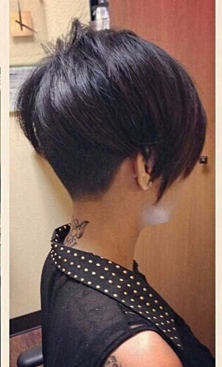 Very Short Dark Asymmetrical Hairstyles: Side View