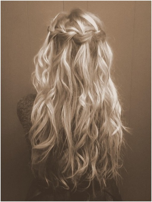 Curly Hairstyles With Waterfall Braids Waterfall Braid With Curly
