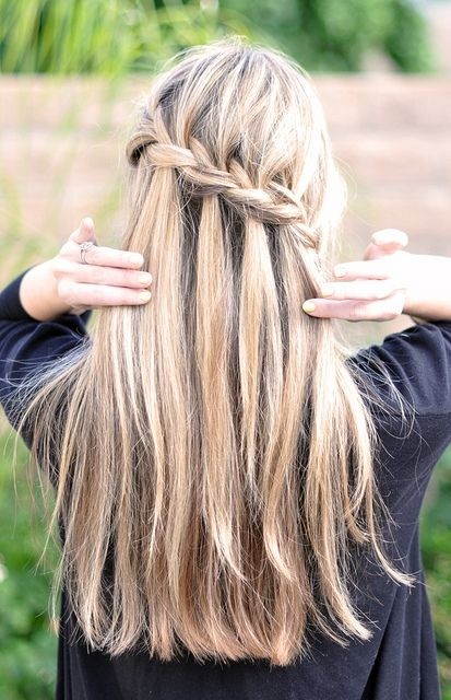 Waterfall French Braid Hairstyles: Long Hair Ideas