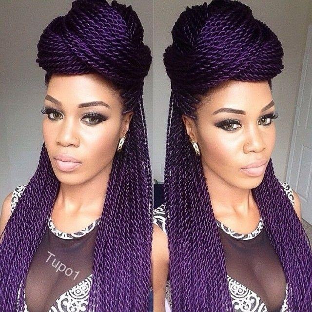 African Hair Braiding: Beautiful Purple Twists