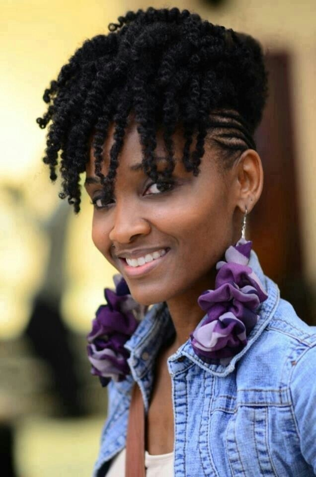 African Hair Braiding: Cute Twists Cornrow Updo