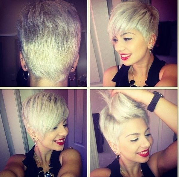 Asymmetric Short Hairstyles: Side, Back View