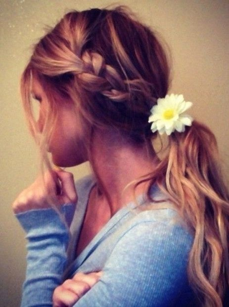 Braid with Ponytail Hairstyle for Summer