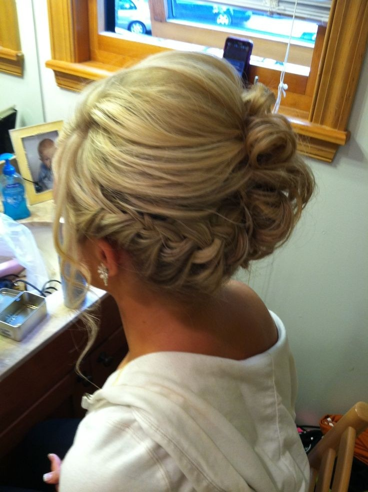 Braided Side Updo