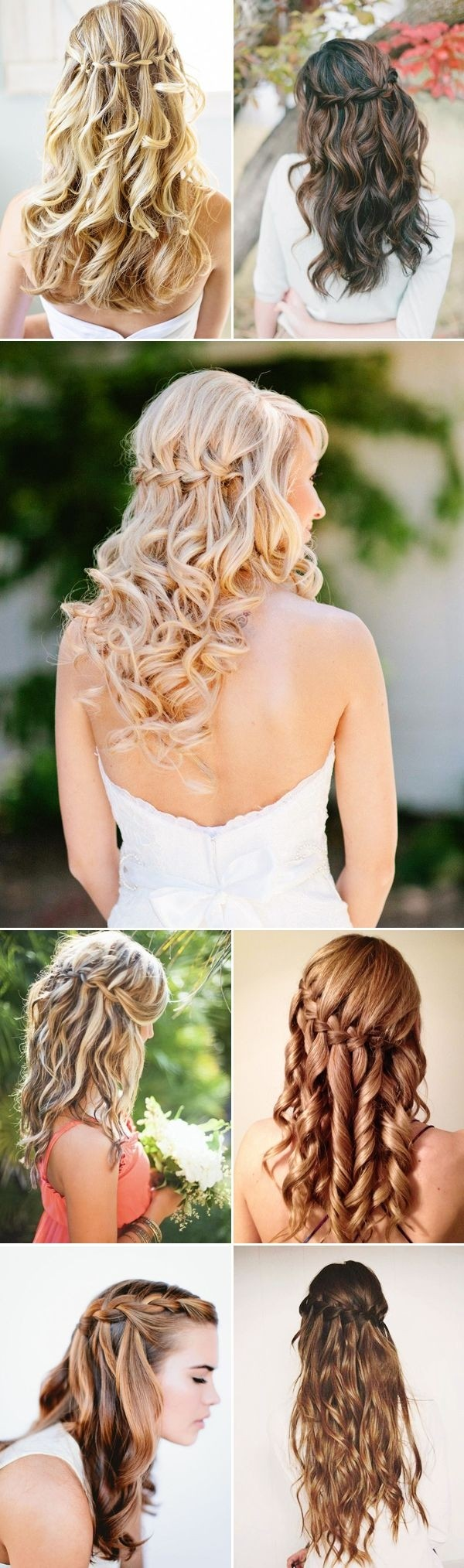 Bridesmaid Hairstyles for Long Hair: Waterfall Braids
