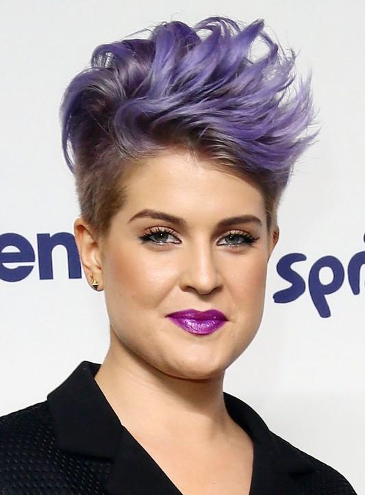 Celebrity Hairstyles for Short Hair: Kelly Osbourne Short Shaved Haircut