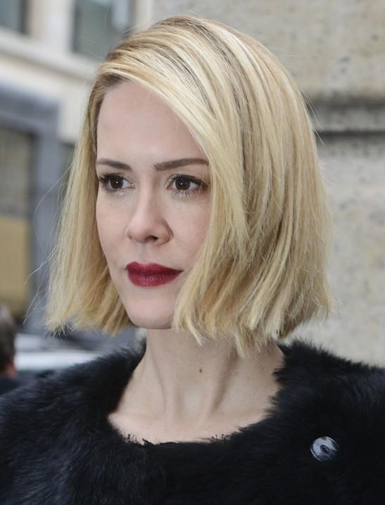 Celebrity Short Hairstyles: Sarah Paulson Blunt Bob Haircut