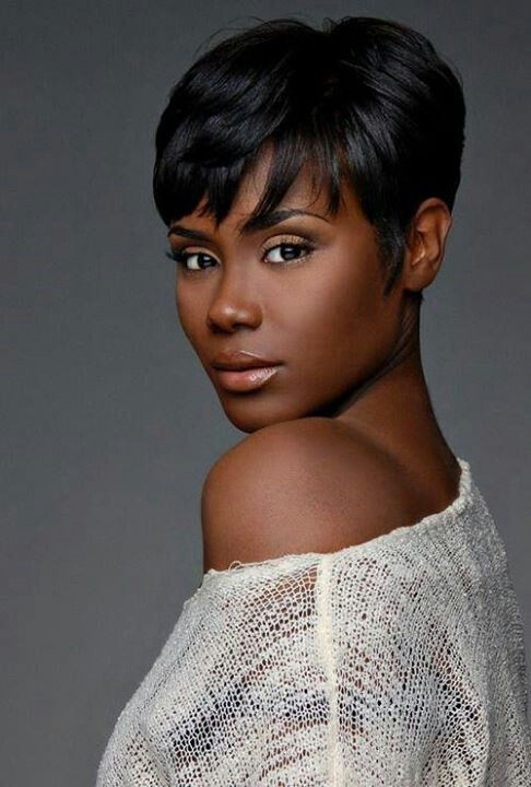 Chic Short Pixie Haircut African American