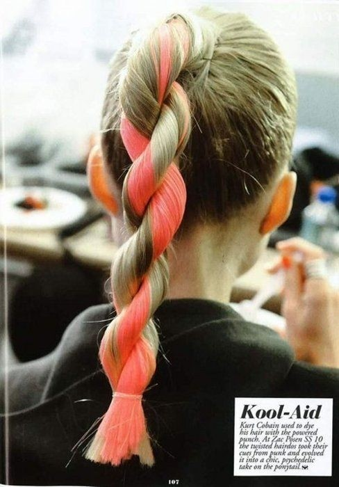 Cute Hairstyles for Long Hair: Twisted Pony