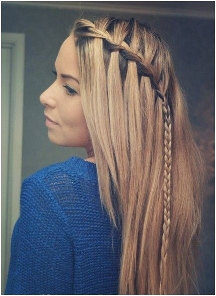 Braided Hairstyles For Medium Straight Hair Straight Hair Easy Braids