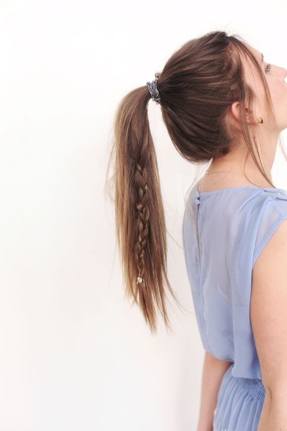 Cute Long Hairstyle for Girls: Braid Ponytail