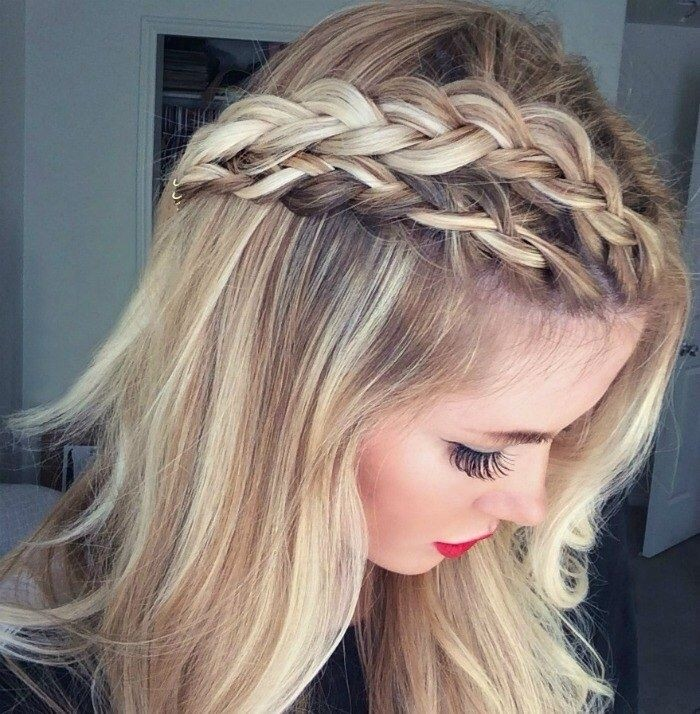 Cute Long Hairstyles for Straight Hair: Triple Braid
