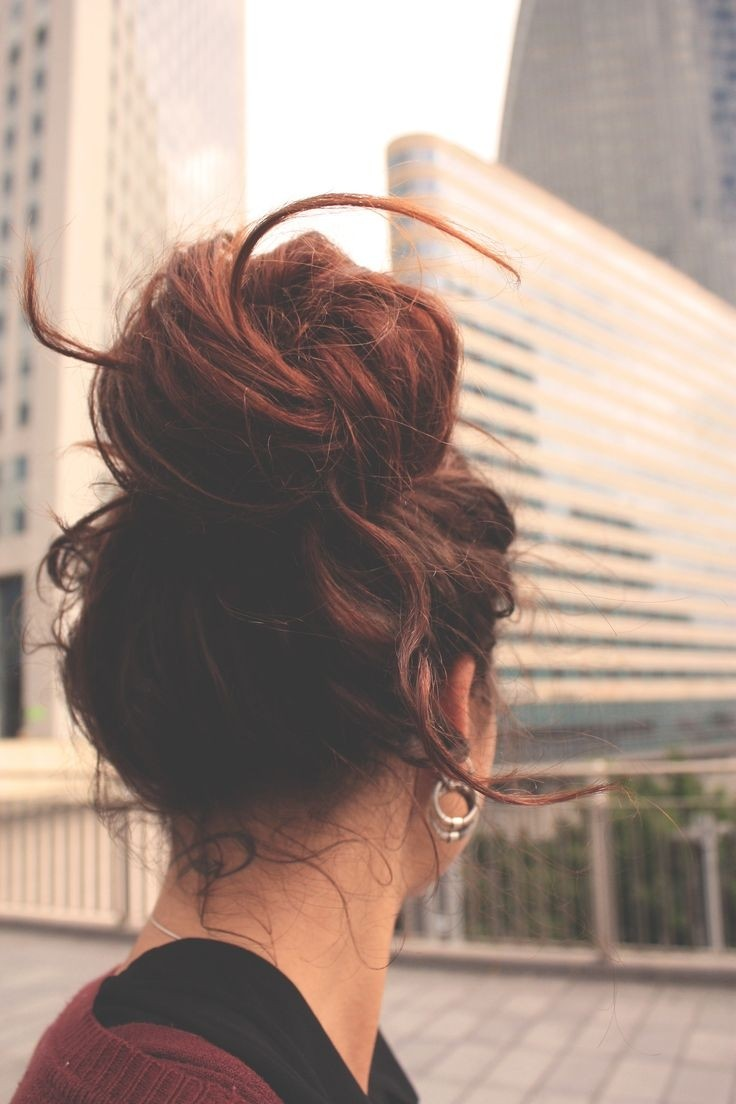 Cute Messy Bun Updos