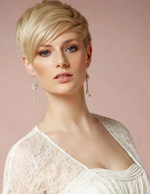 Cute Pixie Haircut with Side Bangs