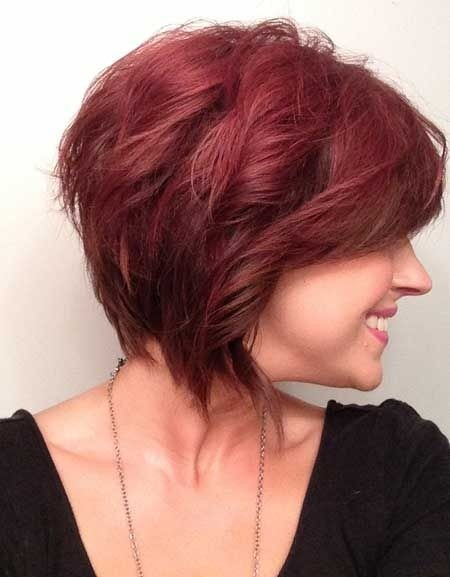 Cute Wavy Short Hairstyles for Red Hair