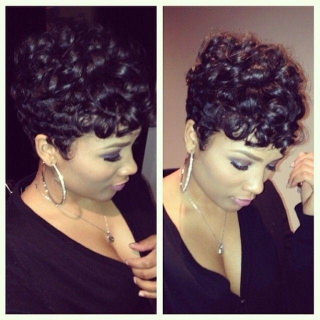 Cute with Pretty Curls for Short Hair