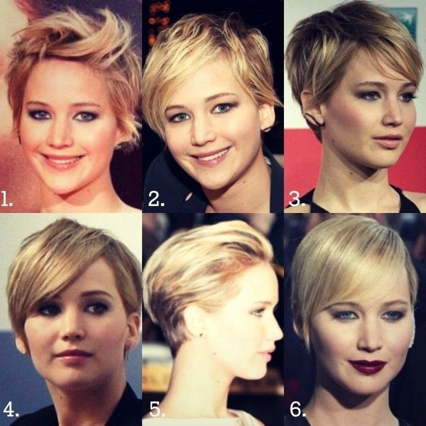 Jennifer Lawrence Short Haircuts: Cute Straight Hair