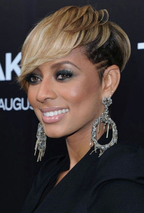 Keri Hilson Short Shaved Hairstyles