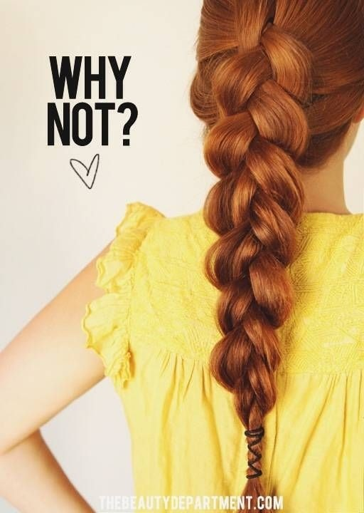 Loose, Big Braid: A Cute Way to Add A Little Detail to Your Braid!