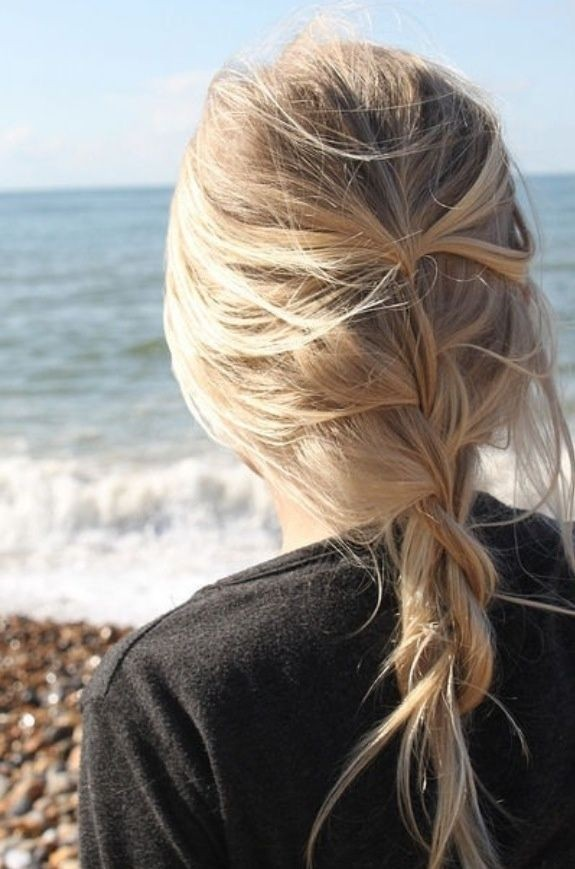 Loose, Messy Braid: Long Hair for Summer