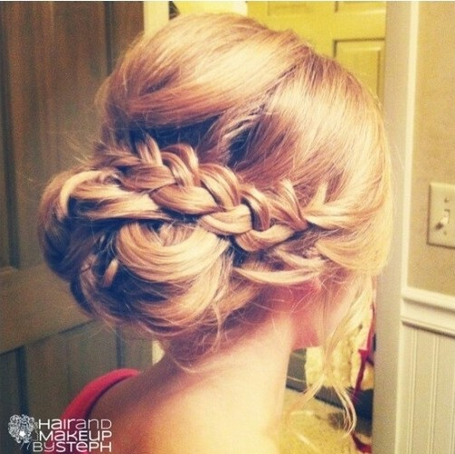 Amazing Loose Updo Hairstyles With Braid: Bridesmaids Hair