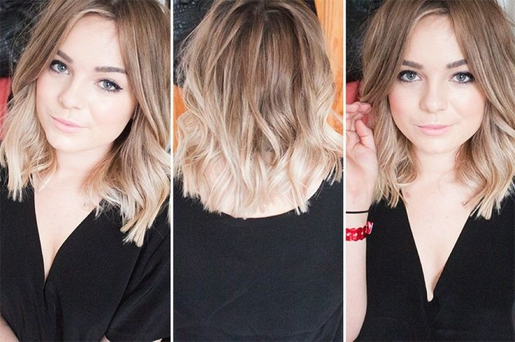 Medium Layered Hairstyles: Brown to Medium Blonde Ombré