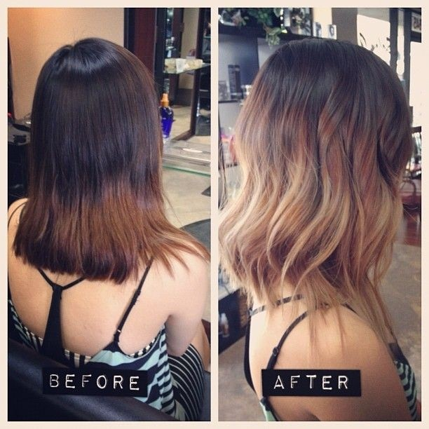 Medium Layered Hairstyles with Ombré Hair