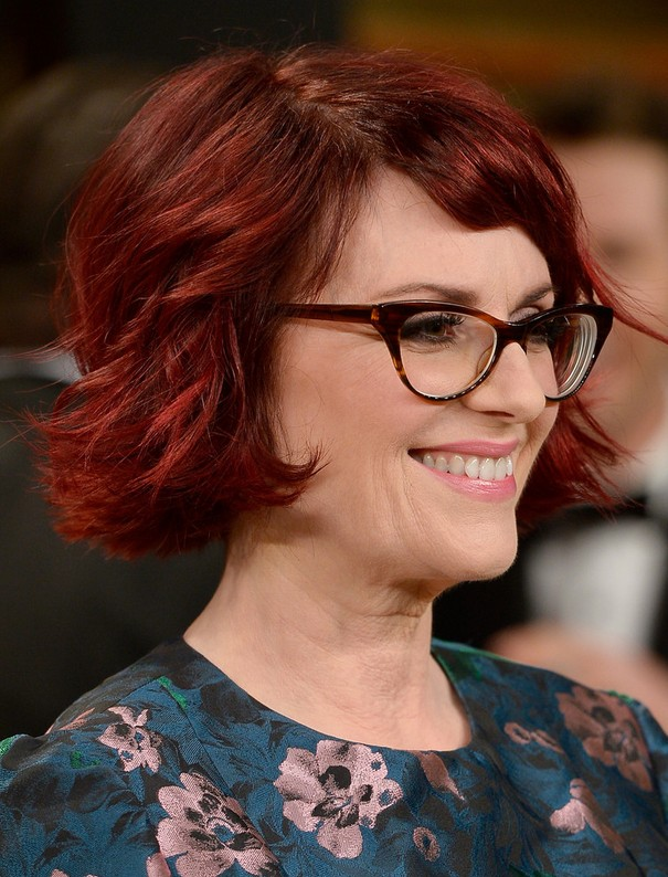 Megan Mullally Red Wavy Hair: Chic Short Hairstyles for Women Over 40 - 50