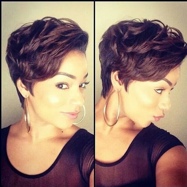Messy, Layered Short Haircut for African American Women