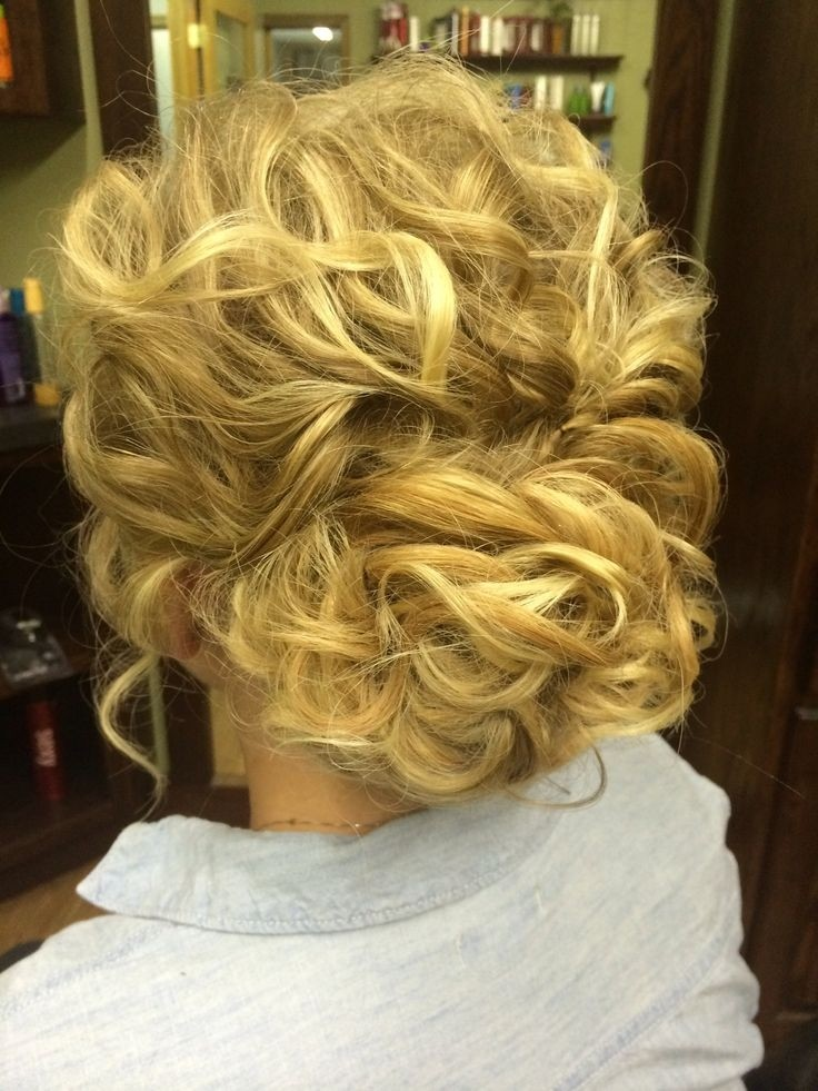 Messy Updo Hairstyles for Curly Hair