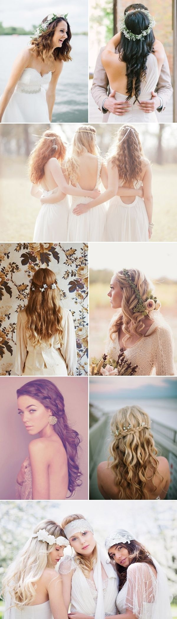 Natural Bridesmaids Hairstyles