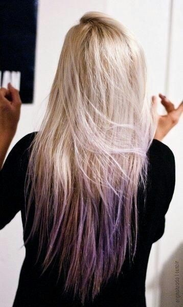 Ombre Hairstyles for Long Straight Hair: Purple Hair