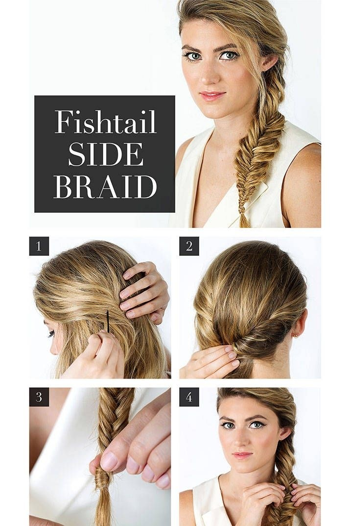 Perfect Summer Braids: French Fishtail Side Braided Hairstyle